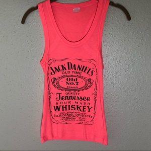 Jack Daniels Whiskey Neon Orange Tank